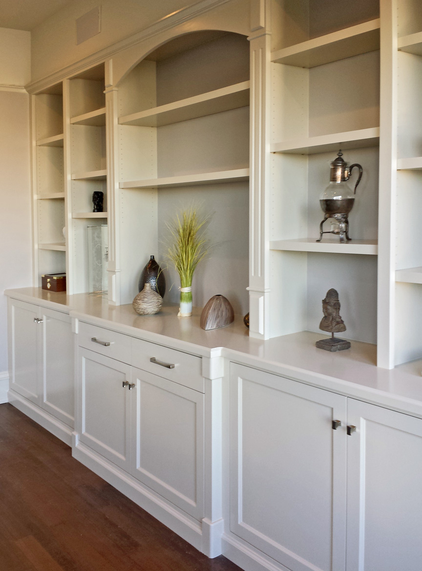 Custom Built In Buffet and Display Cabinet