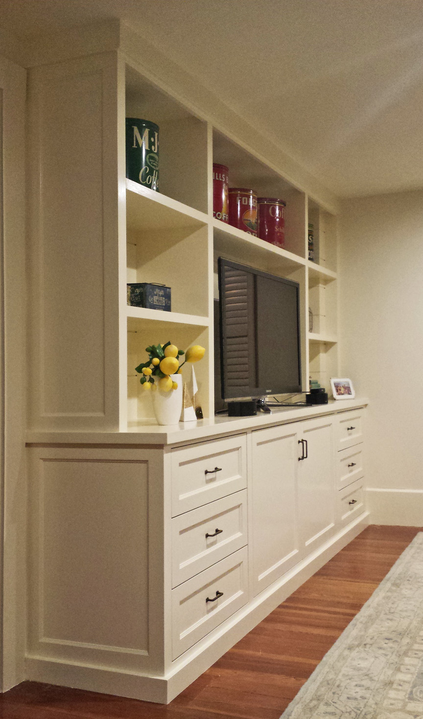 Built In Media Cabinet Design