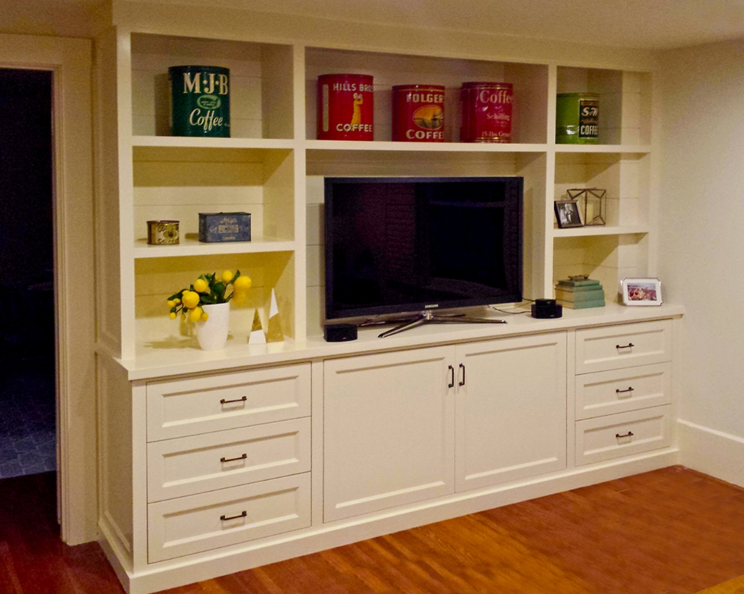 After: Built In Media Cabinet