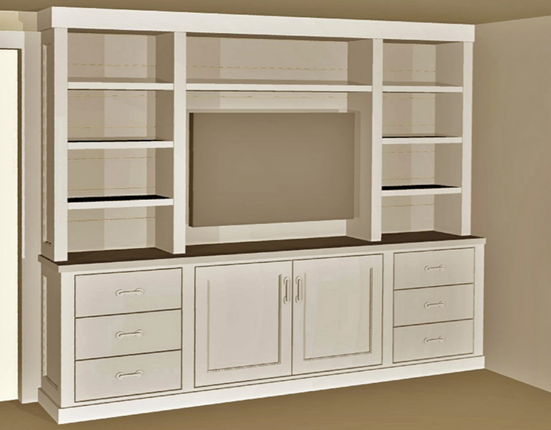 3D Image of TV Cabinet