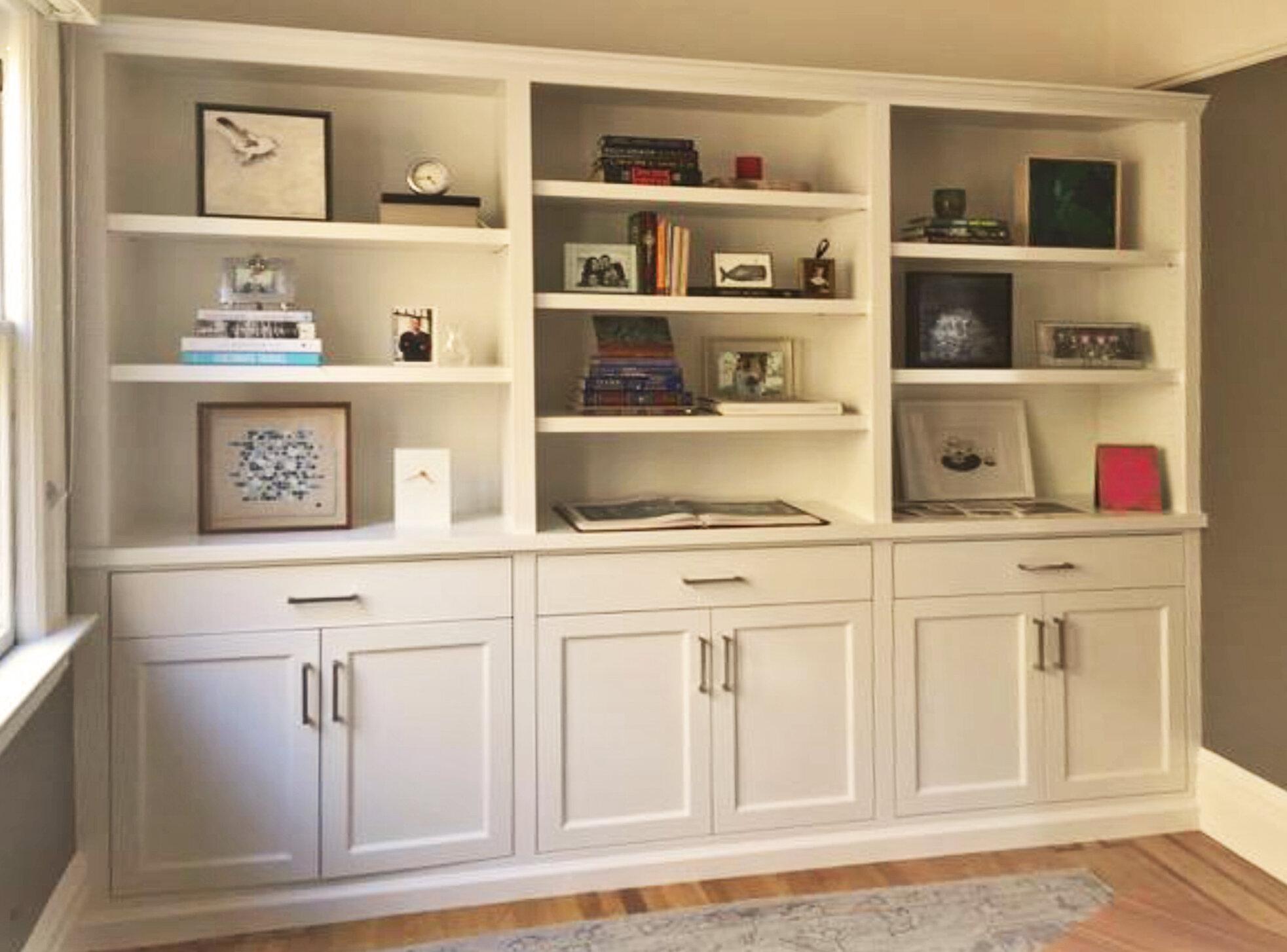 Built In Bookshelves Custom Cabinets Built In Bookshelves Shelving Designs Sj Sallinger