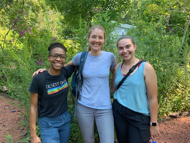 With school back in session, new staff have been reviewing lesson plans ranging from forest ecosystems to mining history as well as participating in our animal ambassador program training. All field trips include a guided, interactive hike, a visit to the Nature Center, and a meet and greet with one of our native animals.