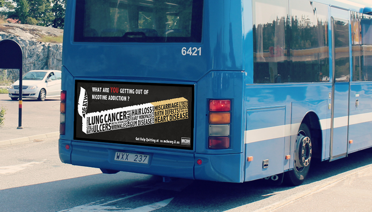 MCDH student bus advertisement competition winner. This ad was run on busses througout McHenry County 2015
