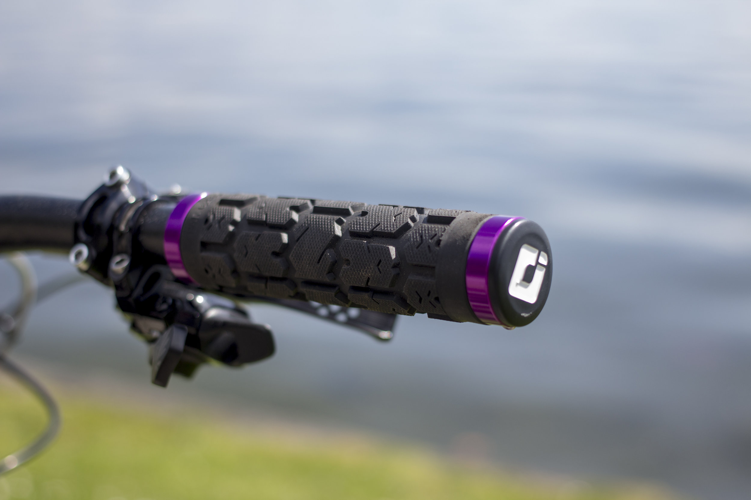 ODI grips are grippy but also can be customized with purple bits. (Other colors available, but why would you?!)