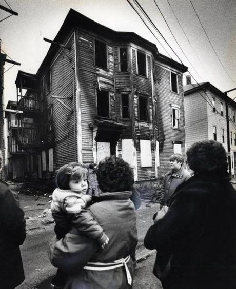 The remains of the Lowell, Massachusetts home, destroyed by fire. (Property of the Lowell Sun)