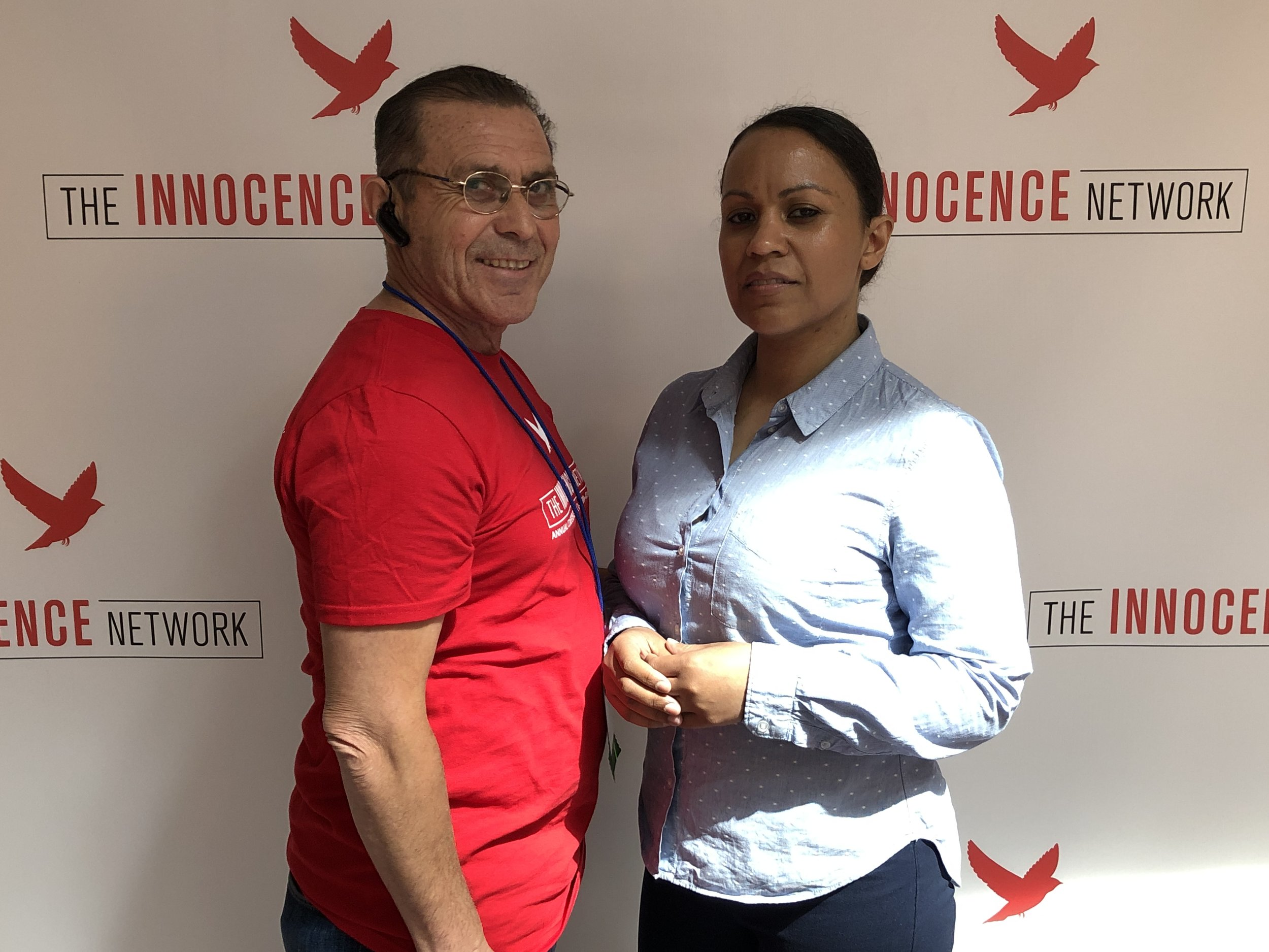 Exoneree, Victor Rosario (left) with his daughter, Maria.