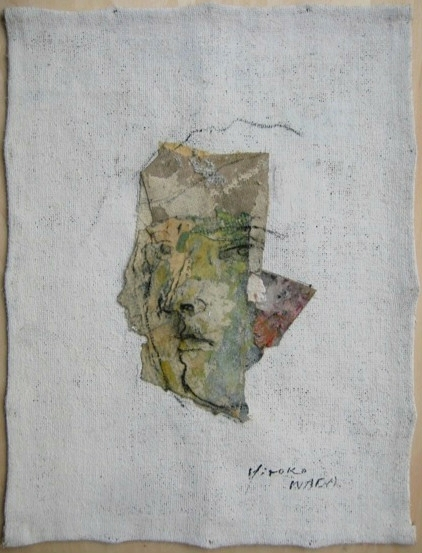 Female Face, charcoal, sumi ink, oil on paper, 12.24 x 8.66 inches, 2018