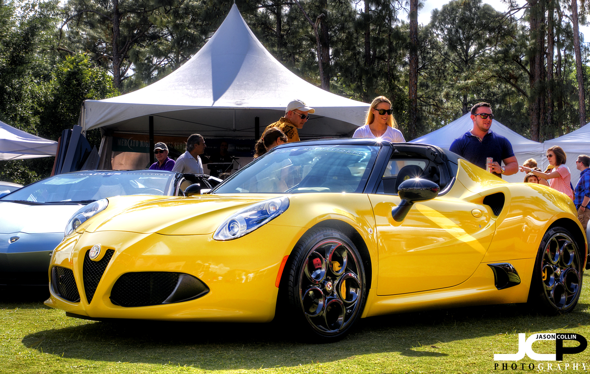 Alfa Romeo 4C Spider at Naples Motorfest 2016 - Nikon D300 with Tamron 17-50mm @ f/11 ISO 200 5-exposure HDR tripod mounted