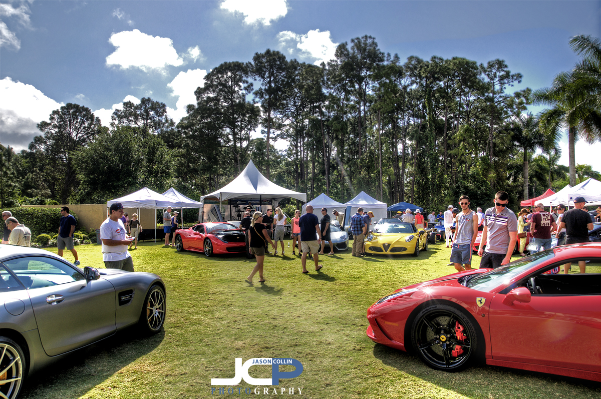 Surrounded by supercars at Naples Motofest 2016 - Nikon D300 with Tamron 17-50mm @ f/11 ISO 200 5-exposure HDR tripod mounted