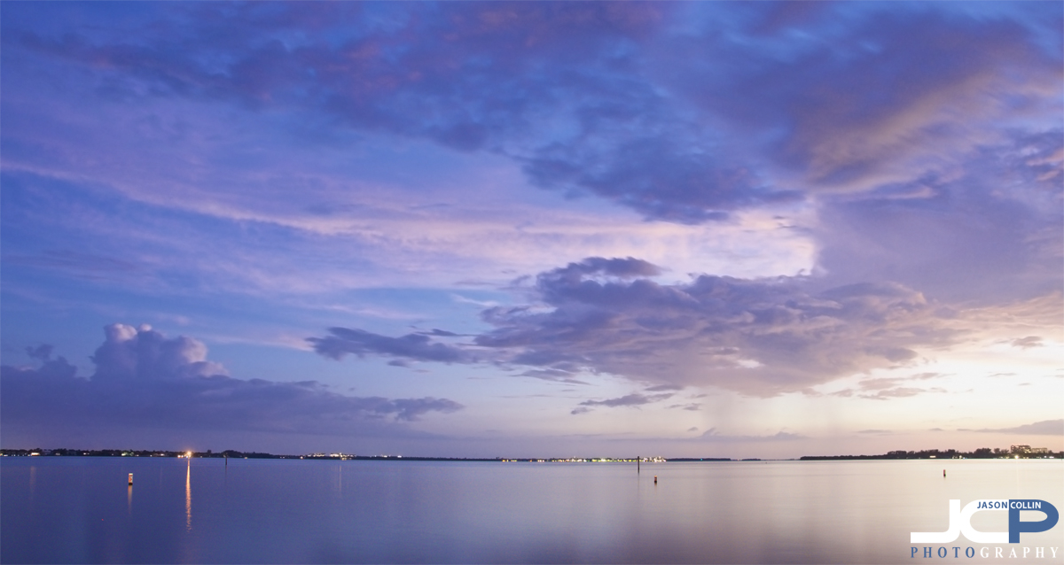 A view of the Caloosahatchee River from the Yacht Club in Cape Coral, Florida - Nikon D300 Tamron 17-50mm tripod mounted with cable release 30 sec exposure