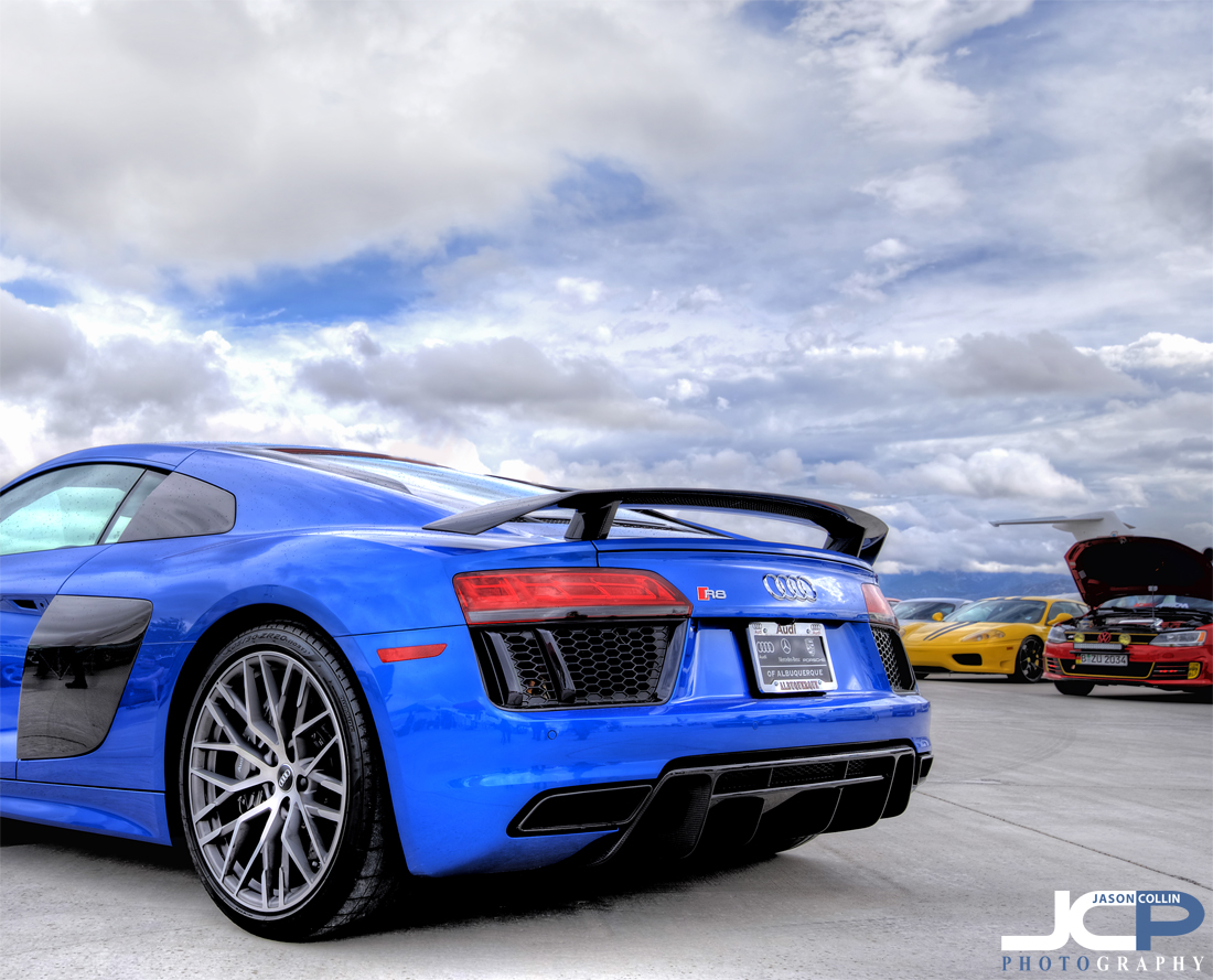 Audi R8 V10+ in its modern supercar glory at Octoberfest 2017 Eurocars in Albuquerque, NM -Nikon D750 with Tamron 15-30mm @ f/11 ISO 100 7-bracket HDR tripod mounted with cable release