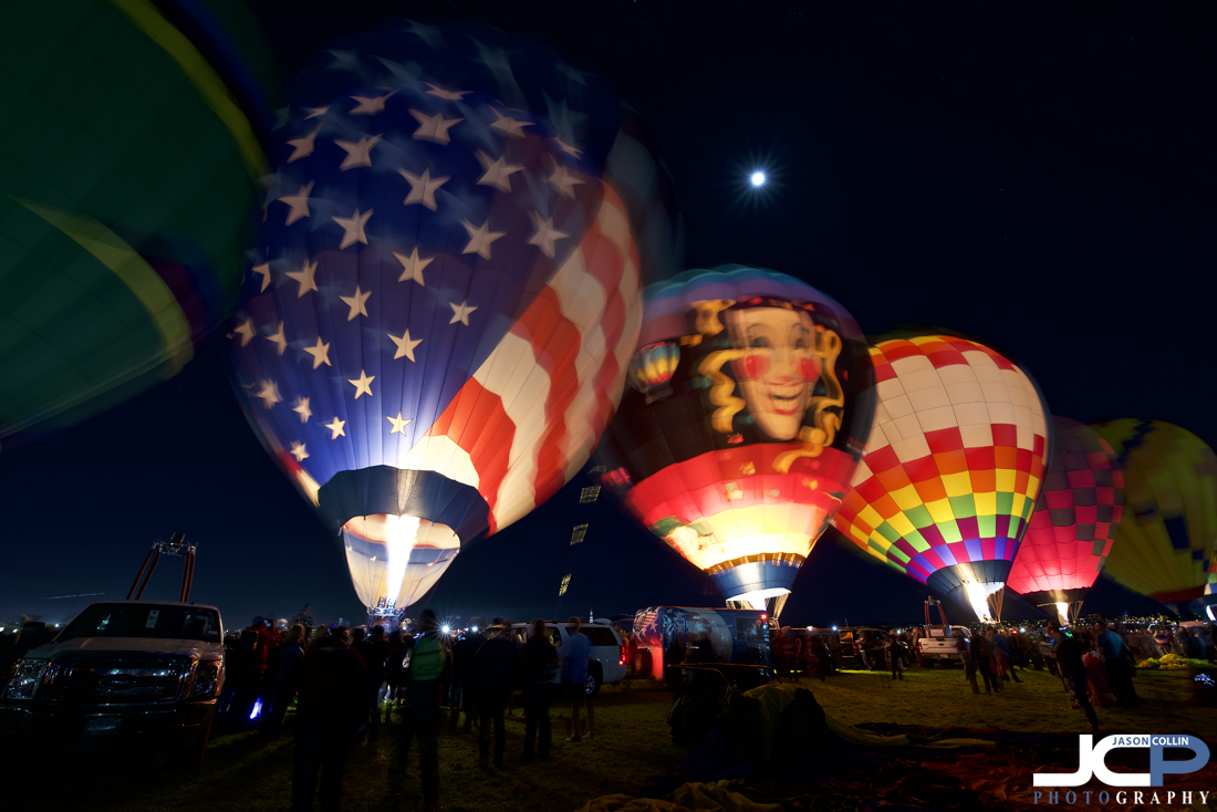 Before the sun, the moon greets early visitors to the Balloon Fiesta in Albuquerque, New Mexico - Nikon D750 with Tamron 15-30mm f/2.8 @ f/8 27.7 seconds ISO 100 tripod mounted long exposure in bulb mode