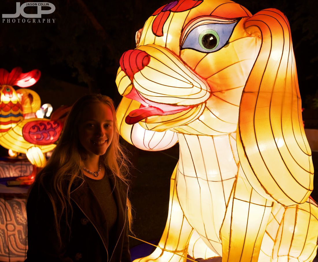 Jess getting some puppy love at the Chinese Lantern Festival - Nikon D750 with Tamron 15-30mm @ f/4 1/60th ISO 800