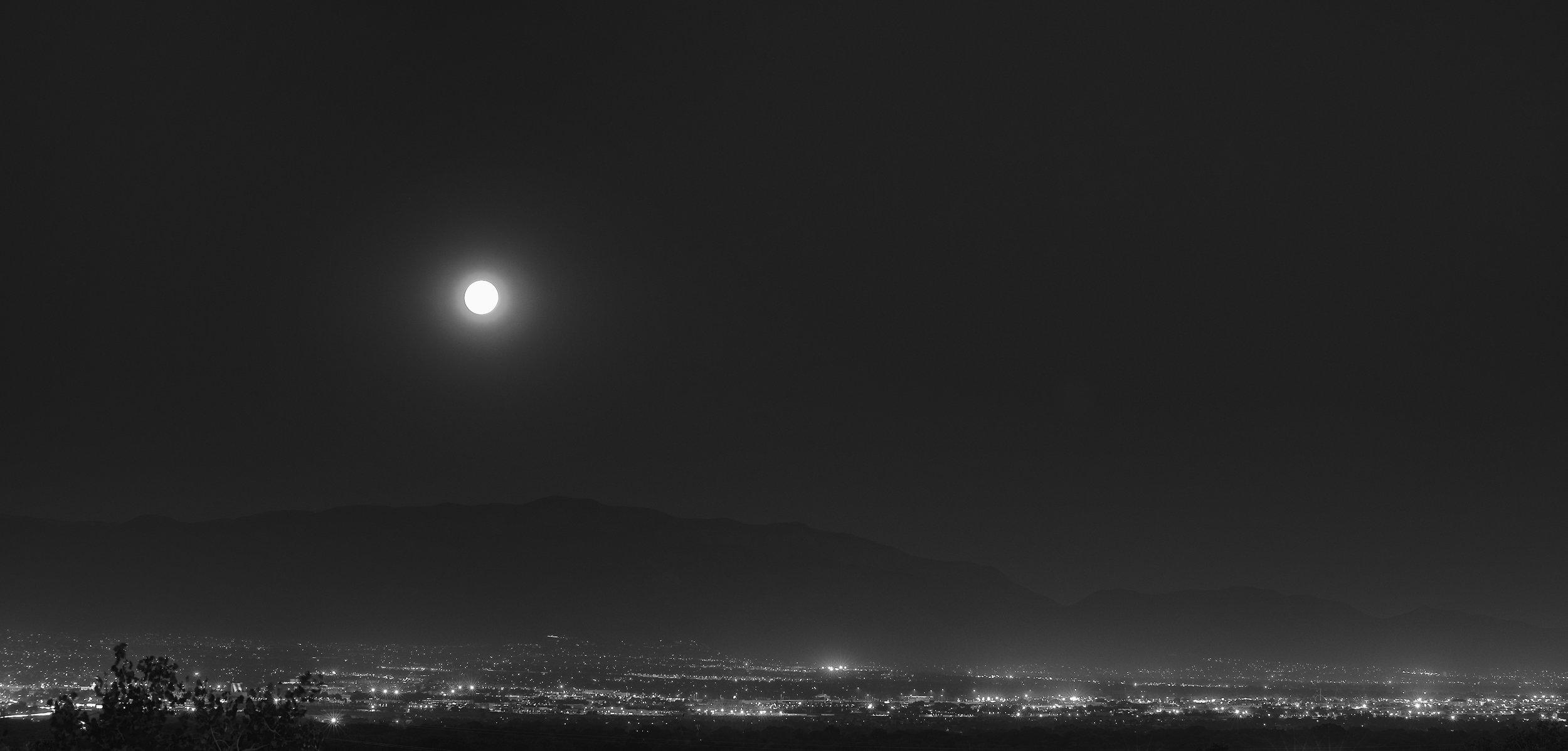 Albuquerque Black White Moonscape