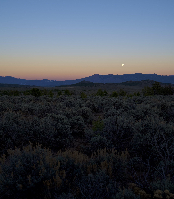 Purple High Desert Moon Rise