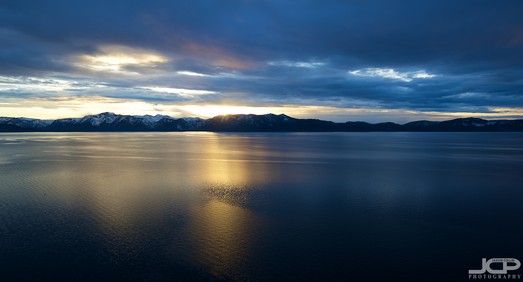 Beautiful Lake Tahoe photographed from the top of Cave Rock during the last sunset of 2017 - Nikon D750 with Tamron 15-30mm f/2.8 SP handheld
