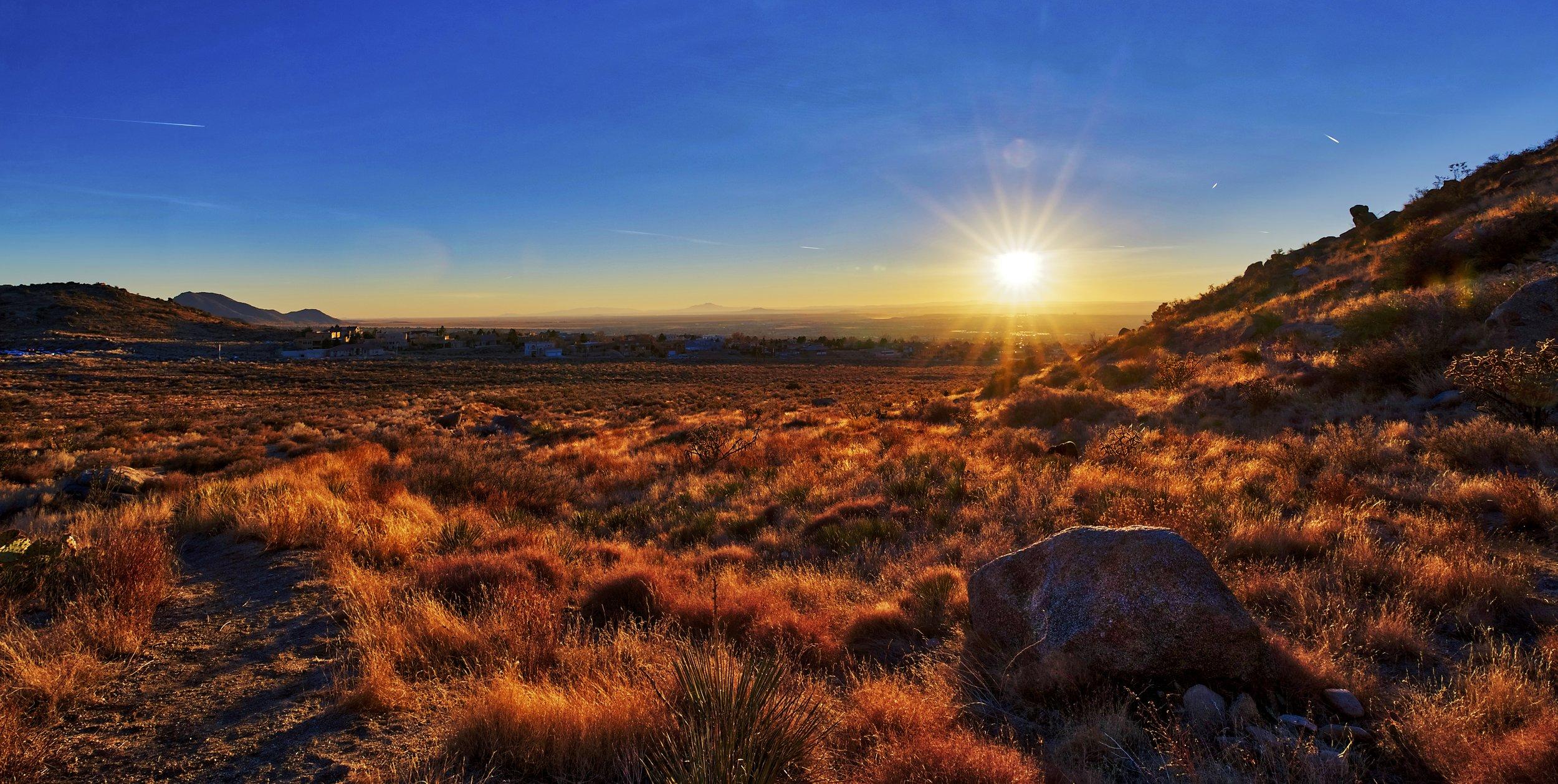 Sandia Foothills Golden Sunset