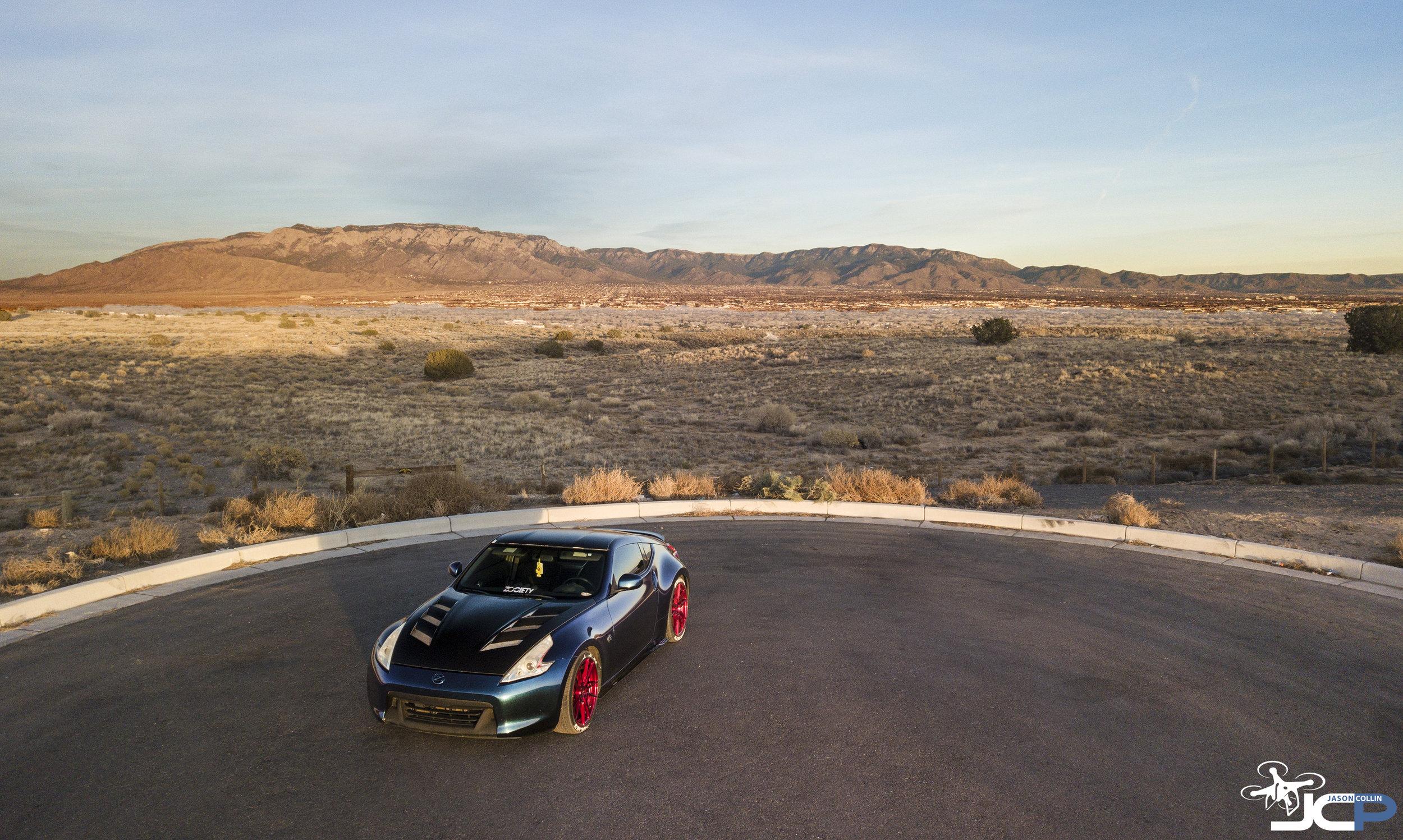 Custom Nissan 370Z in Albuquerque New Mexico - photo made with DJI Mavic Pro drone