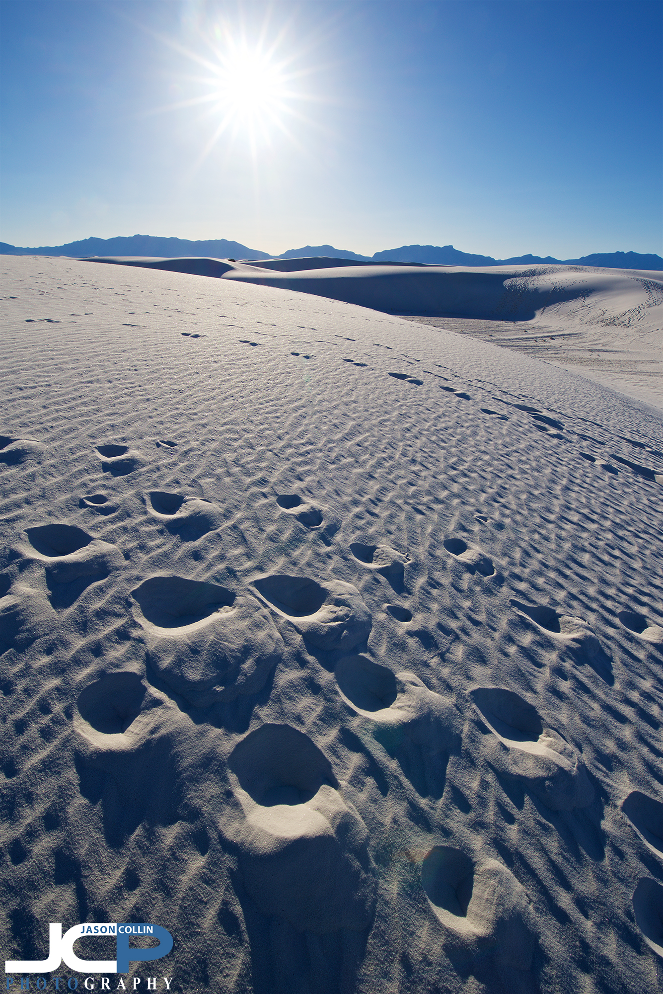 Dog paw prints on White Sands National Monument which is a very dog friendly park - Nikon D750 with Tamron 15-30mm @ f/16 1/160th ISO 100 15mm