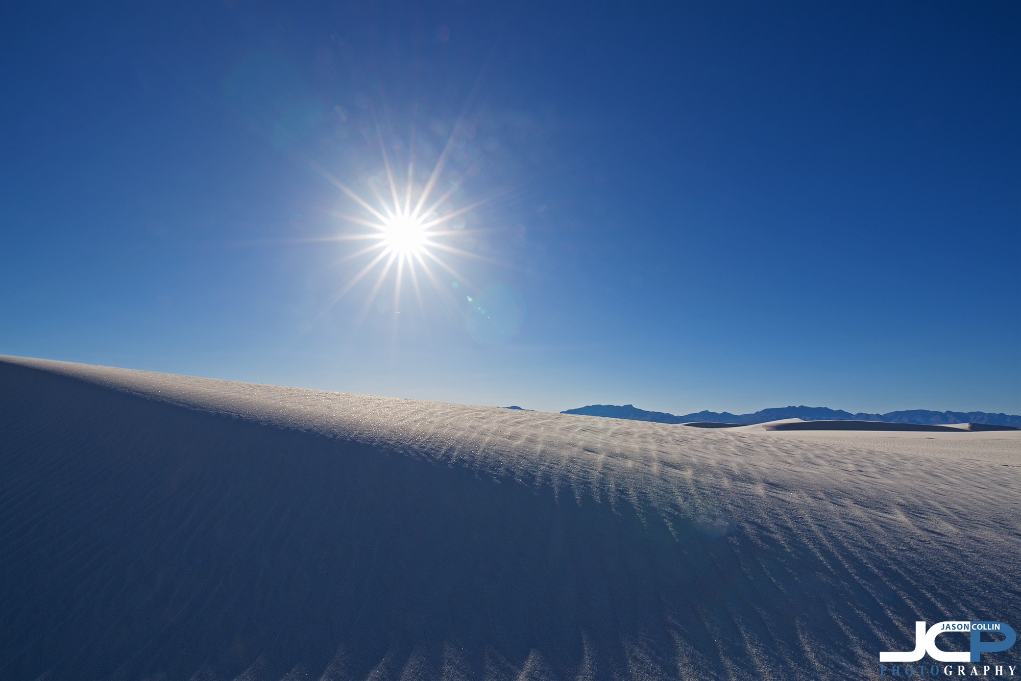 50% white, 50% blue, that is the view White Sands offers - Nikon D750 with Tamron 15-30mm @ f/16 1/160th ISO 100 15mm