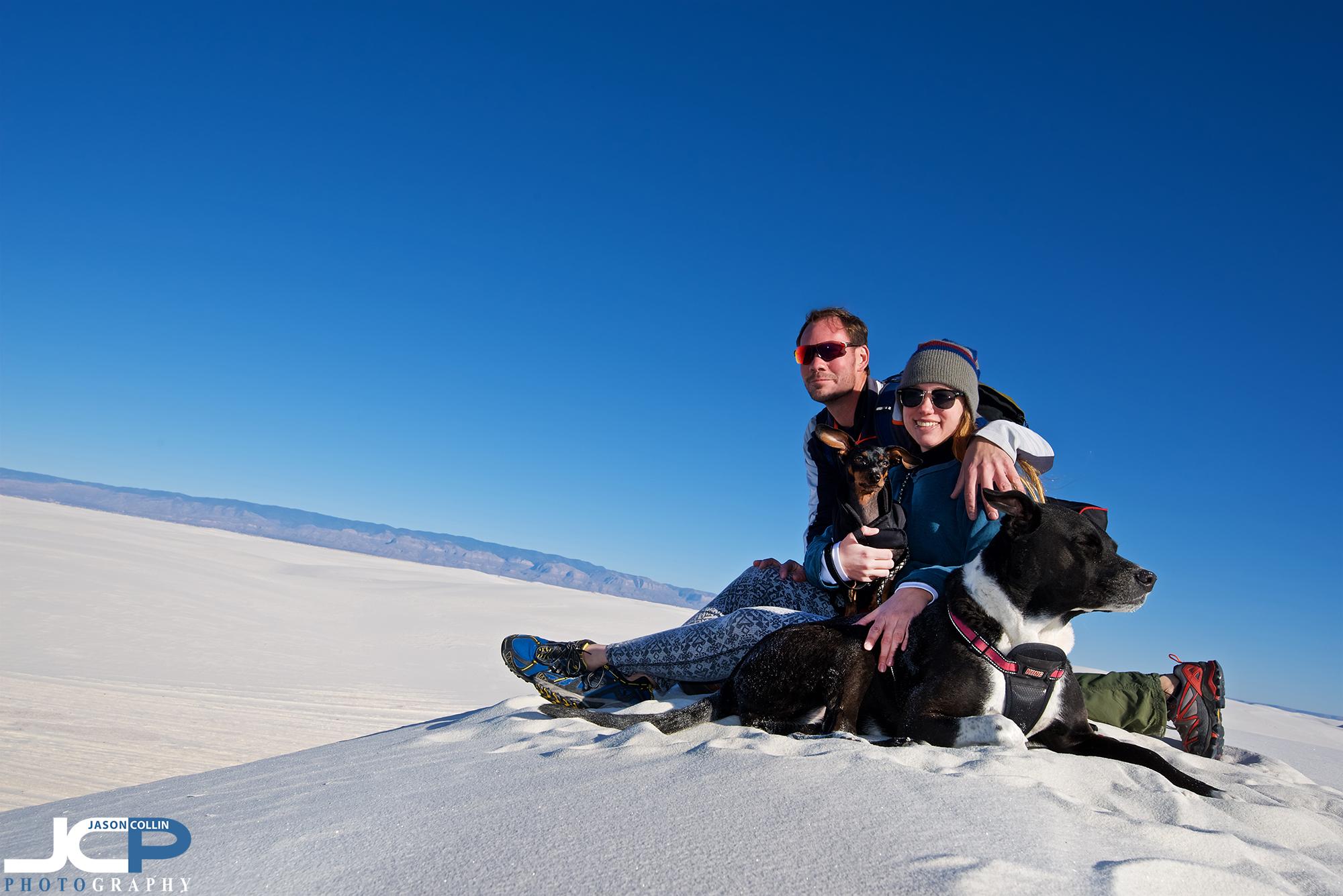Family photo atop White Sands