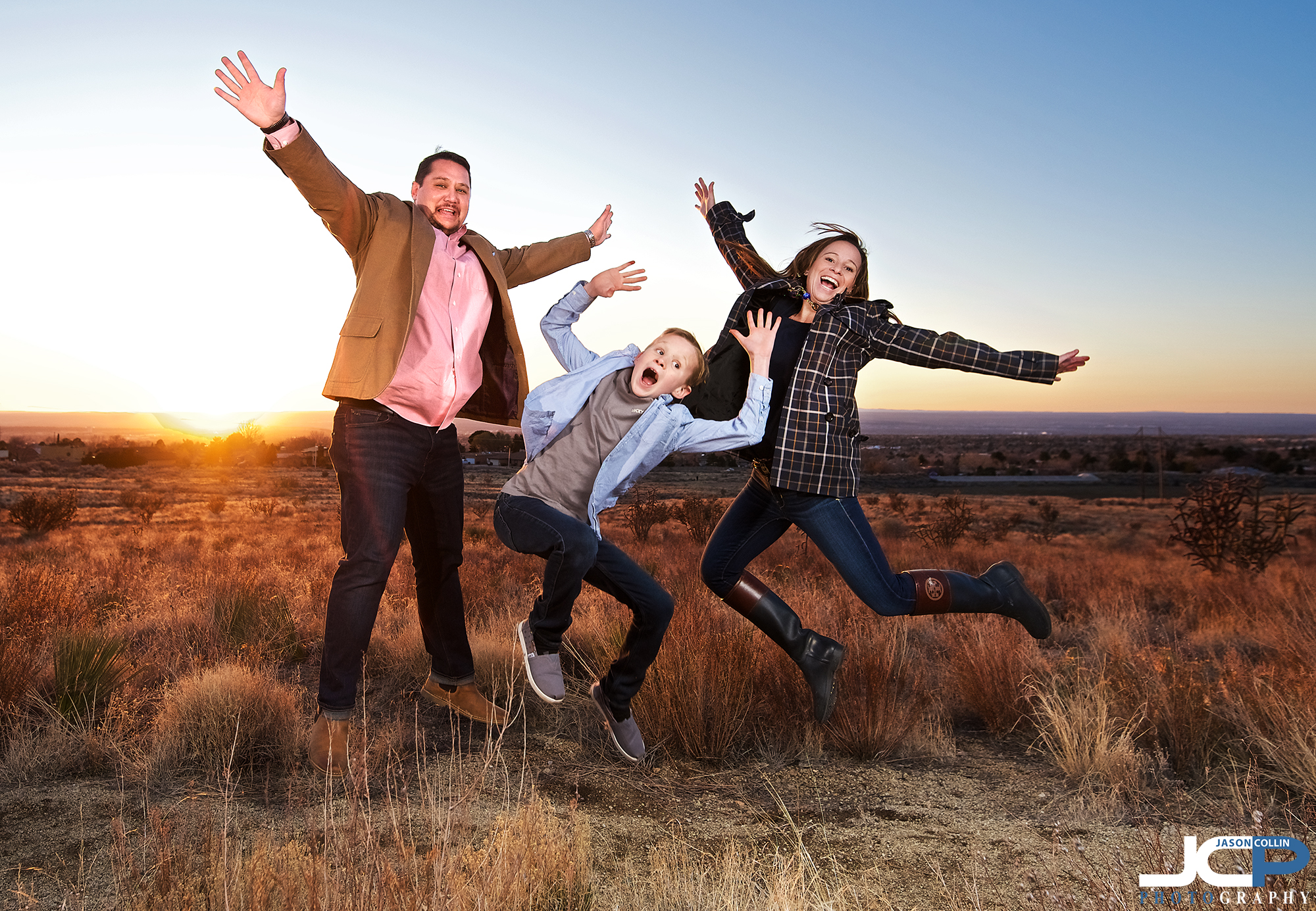 """Do you have a family portrait this much fun from Albuquerque New Mexico? - Nikon D750 with Tamron 15-30mm @ f/4 1/500th ISO 800 - Strobist: SB-800 in 32"""" octosoftbox and SB-600 with cap diffuser triggered by Pocket Wizard Flex TT5 high speed flash sync"""