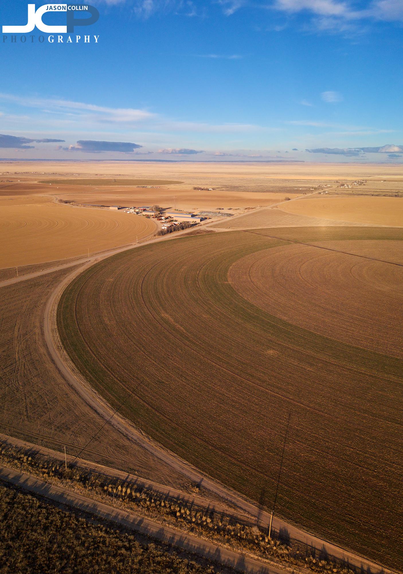 Rural New Mexico drone photo of Moriarty farmland - made with DJI Mavic Pro & PolarPro ND8 filter