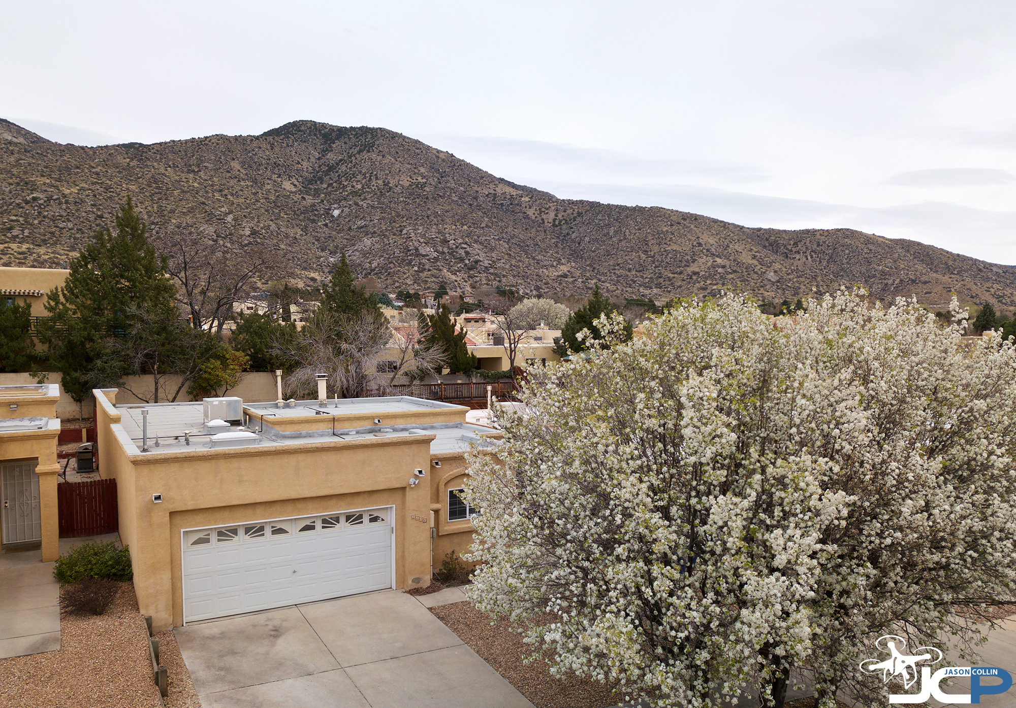 Aerial drone photo of residential real estate in Albuquerque New Mexico - DJI Mavic Pro with PolarPro filter N8
