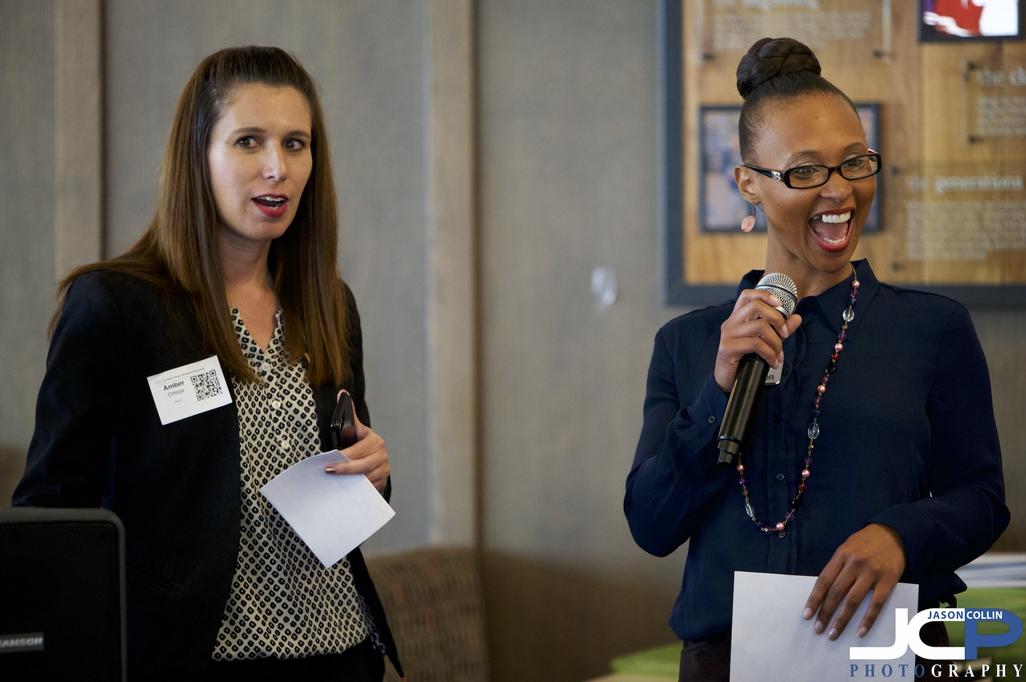 Do you have this much fun at the networking events you go to? Albuquerque, New Mexico event photography at Amigos Breakfast