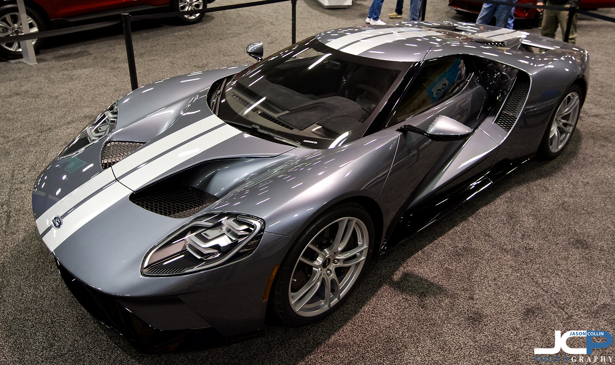The 2017 Ford GT has a lot of presence, even on carpet under fluorescent lights at the 2018 New Mexico Auto Show
