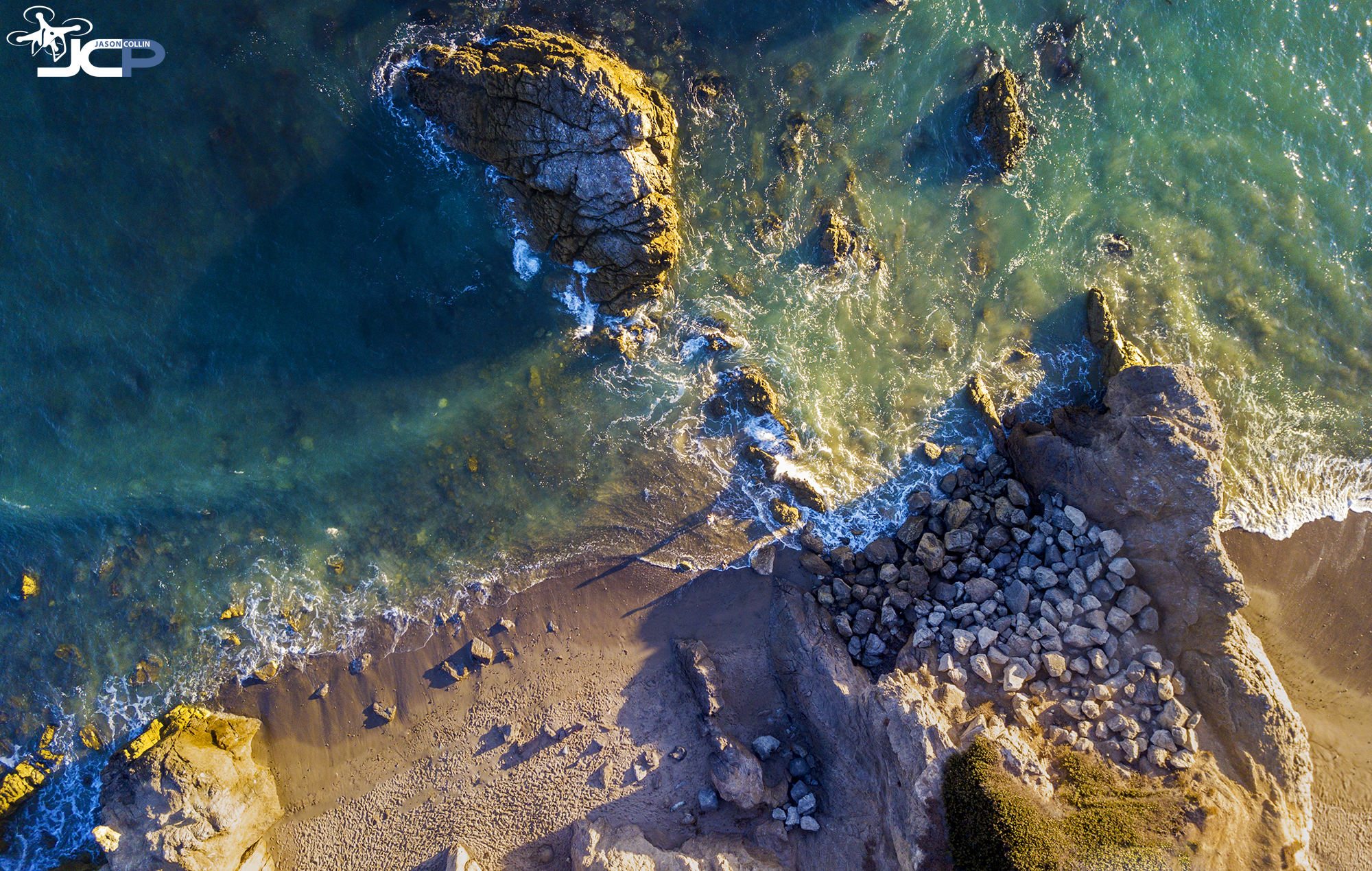Leo Carrillo State Park in Malibu, California is ideal for drone aerial photography - made with a DJI Mavic Pro