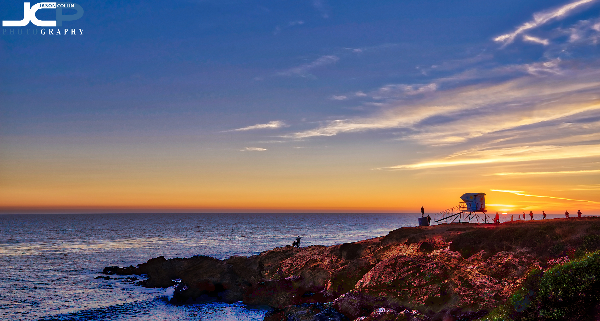 Malibu California iconic sunset view over the Pacific Ocean - get a fine are print for your home or office today!