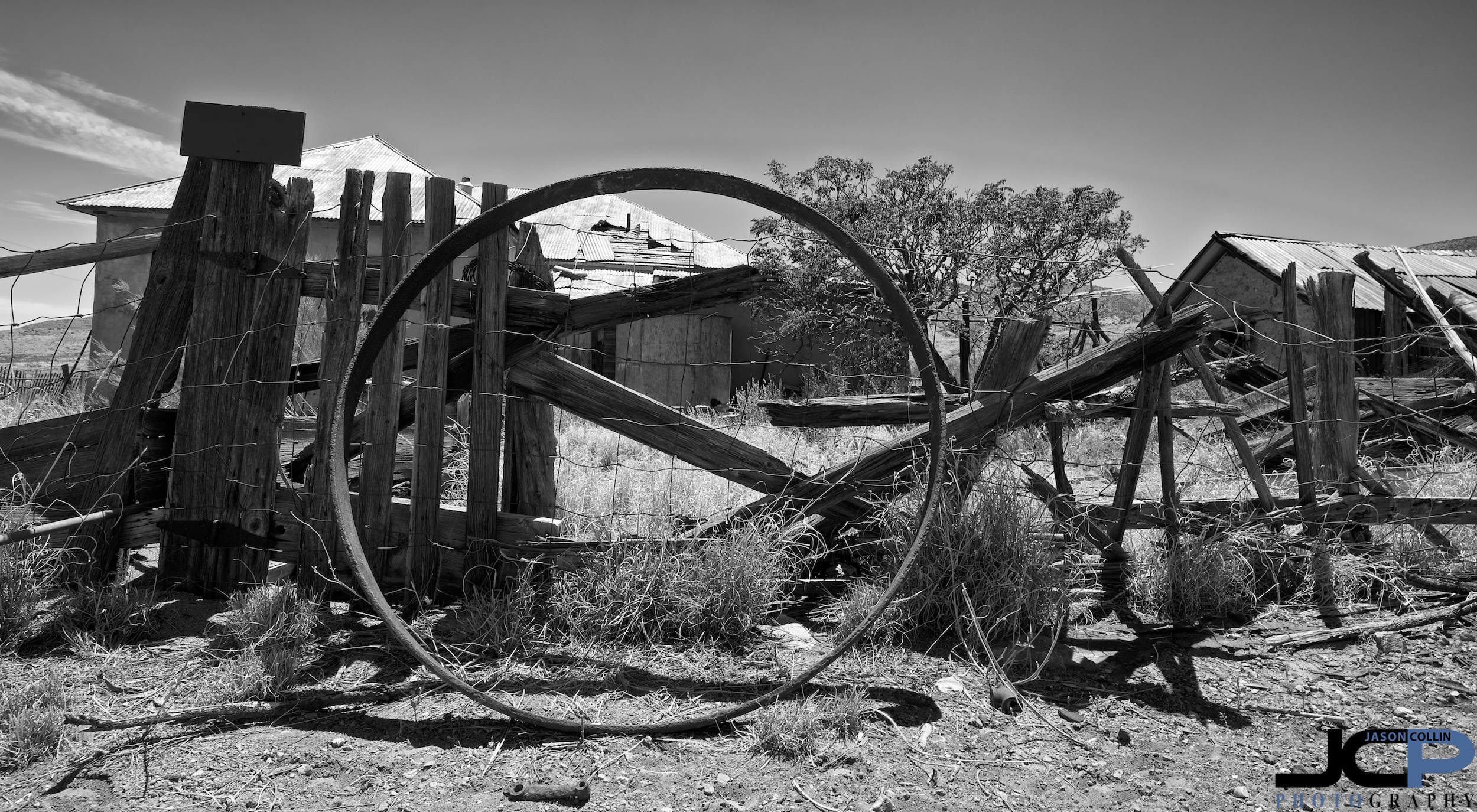 Becoming a ghost town outside of Hillsboro,New Mexico