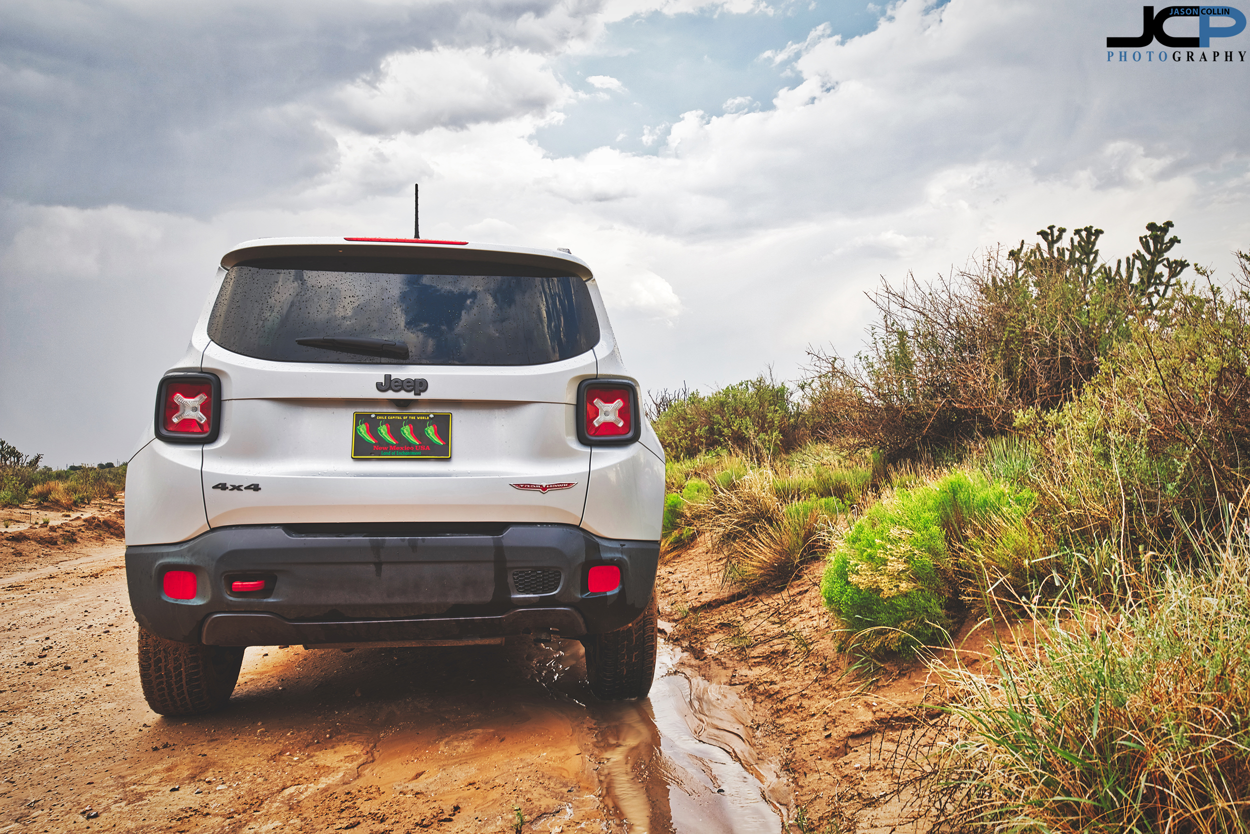 My Jeep Renegade Trailhawk in rural Rio Rancho, New Mexico offroad after a heavy thunderstorm passed by - Nikon D750 with Tamron 15-30mm f/2.8 SP lens tripod mounted 5-bracket HDR processed in Aurora HDR 2018