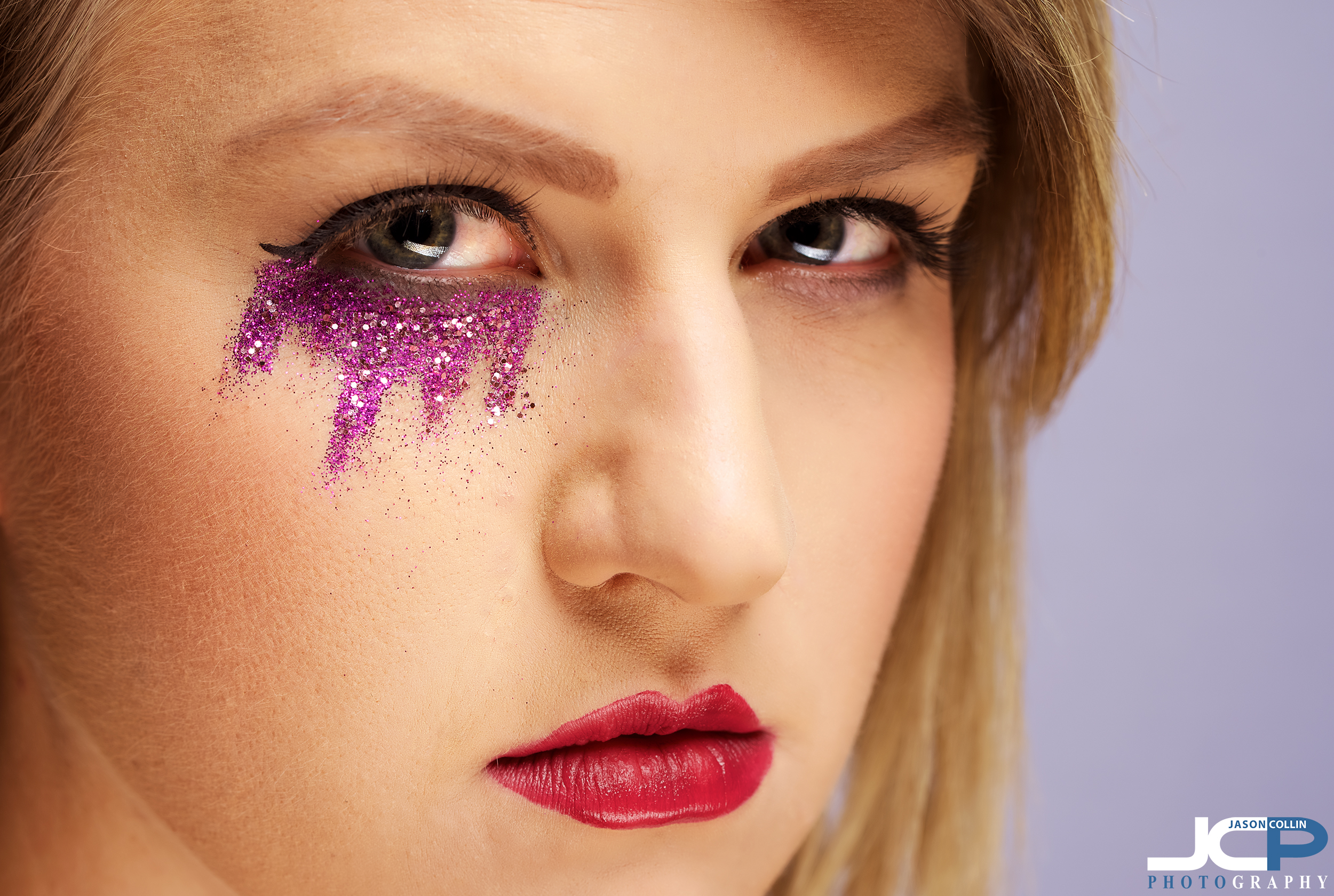 eye makeup macro commercial portrait