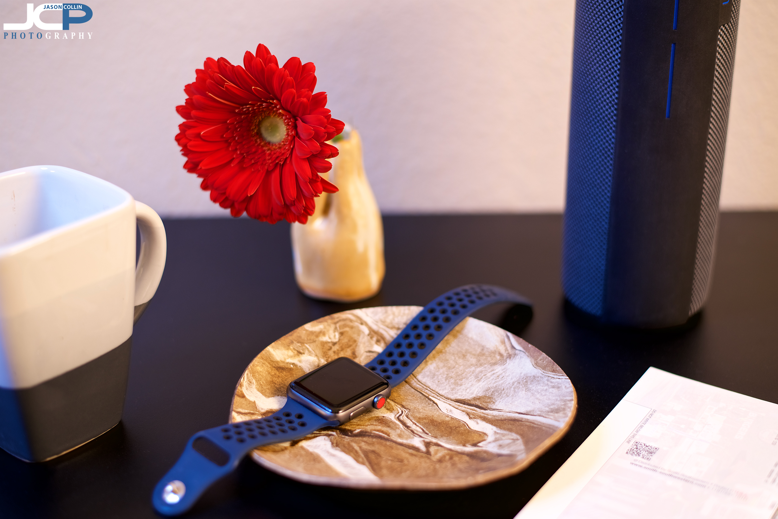 using some of my own items for a ceramic art lifestyle photo