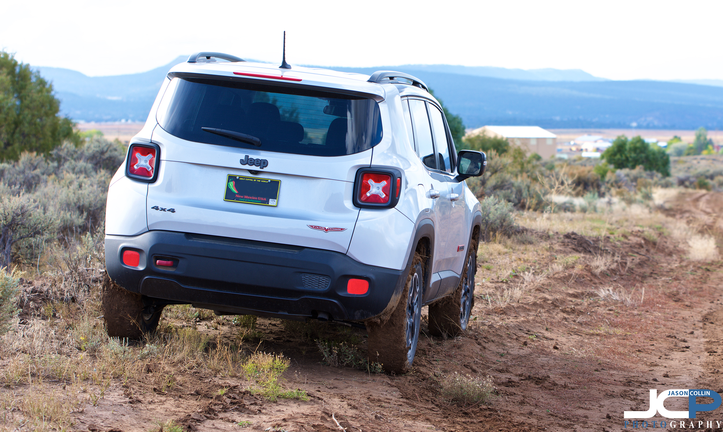 No getting stuck in the mud for the Trailhawk!