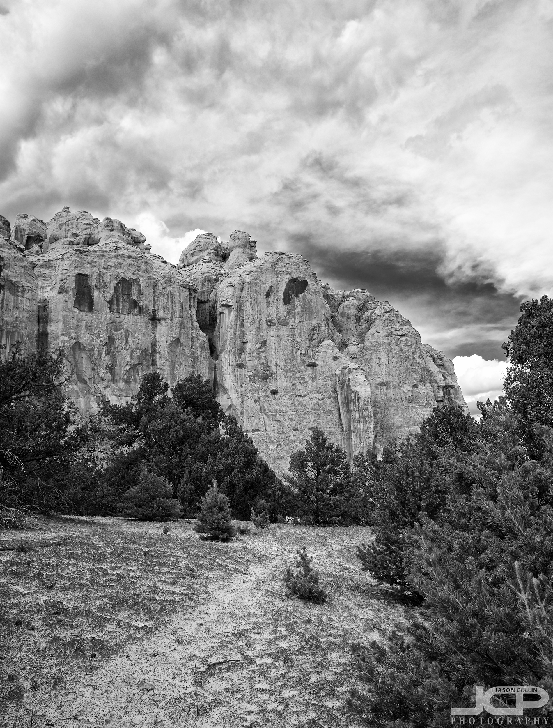 The approach to El Morro National Monument in New Mexico
