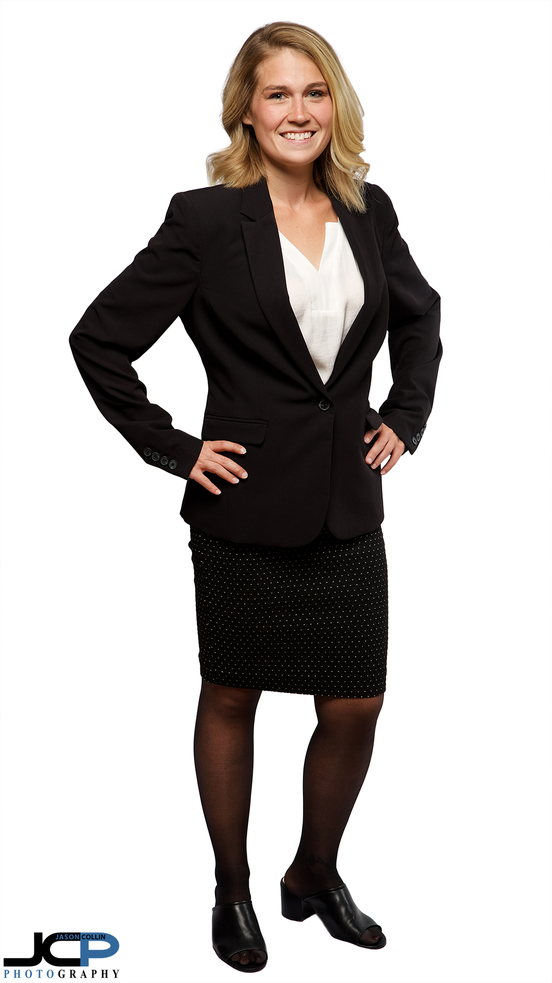 full body real estate agent headshot