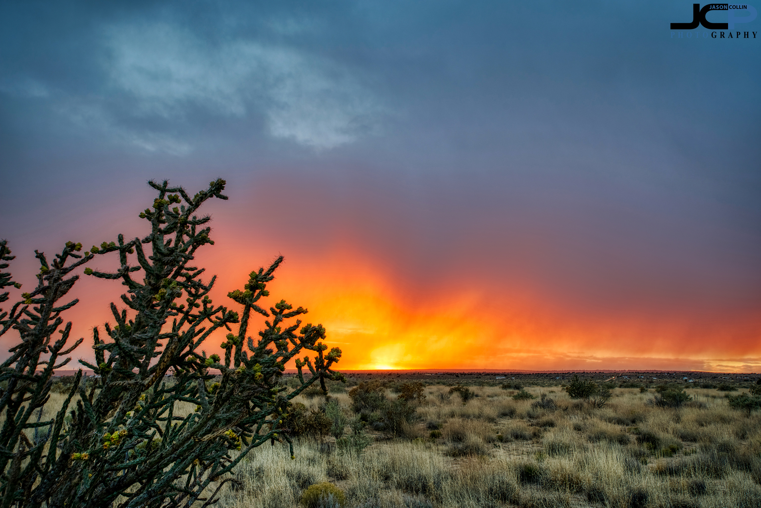 Fire in the sky in Rio Rancho, New Mexico - rural land real estate photography