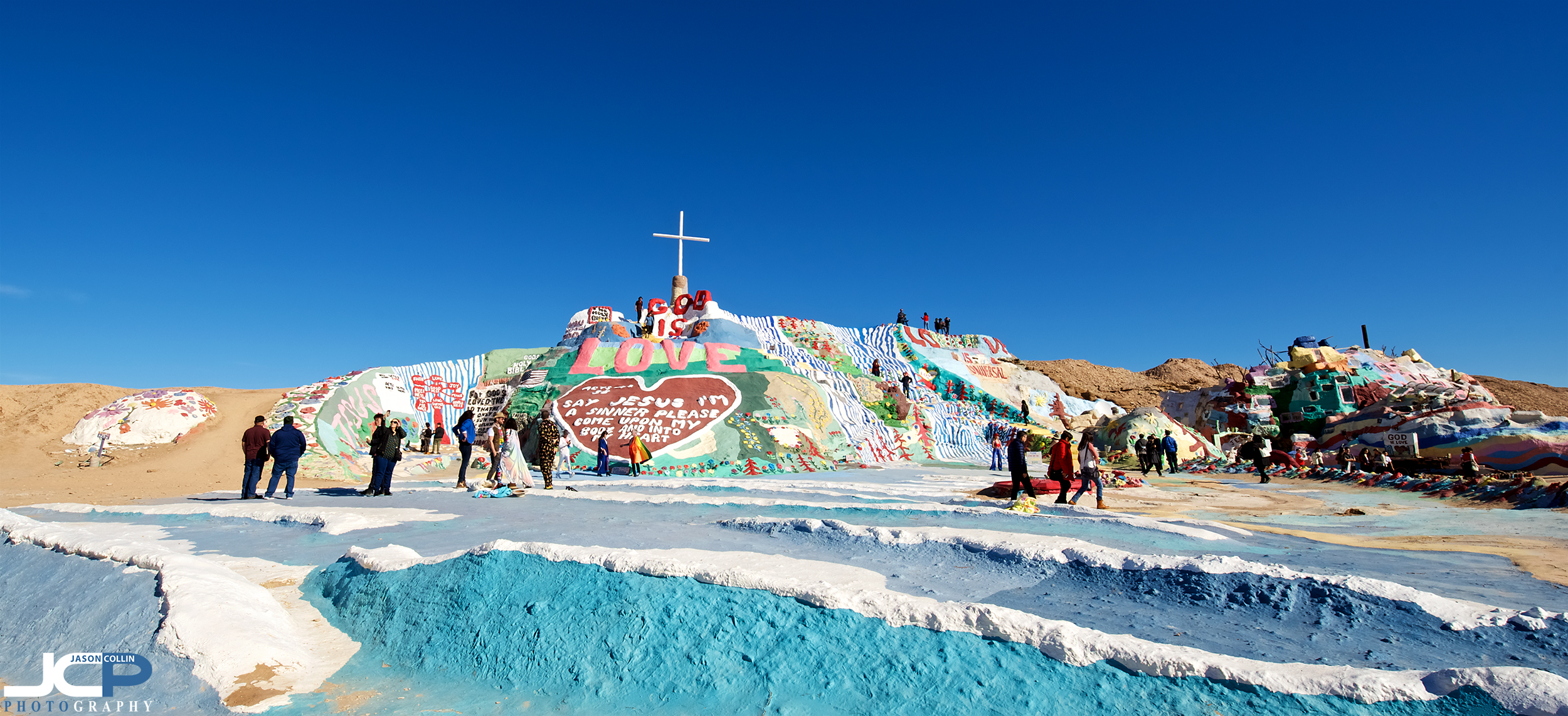 Not a Dr. Seuss monument, this is in fact Salvation Mountain in Slab City, California