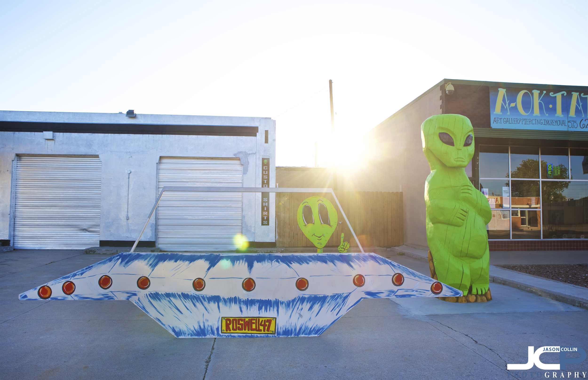 Park your UFO and shop in Roswell New Mexico