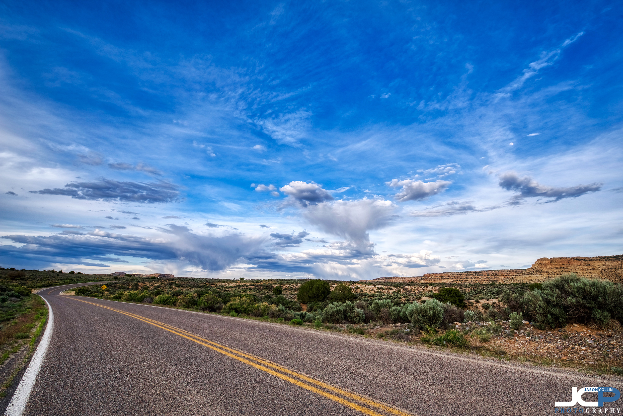 Beautiful Road in San Juan County New Mexico - 5 bracket HDR image