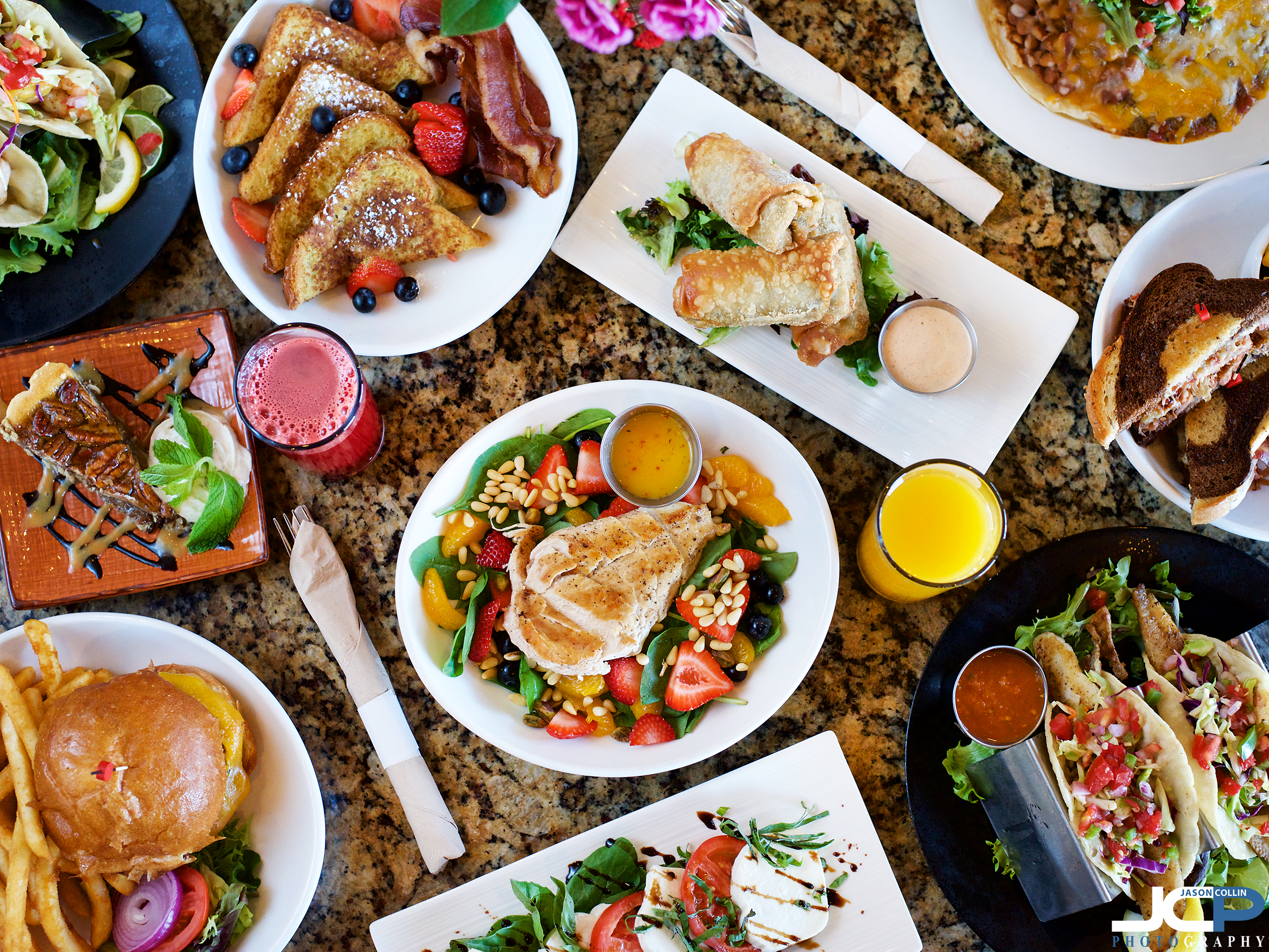 The wide variety in food available at Two Cranes Bistro in Albuquerque New Mexico