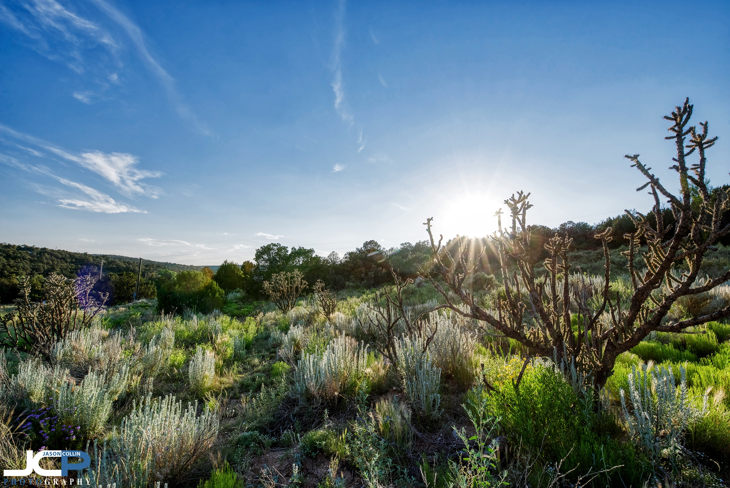HDR sunset photography for Edgewood, New Mexico rural land real estate