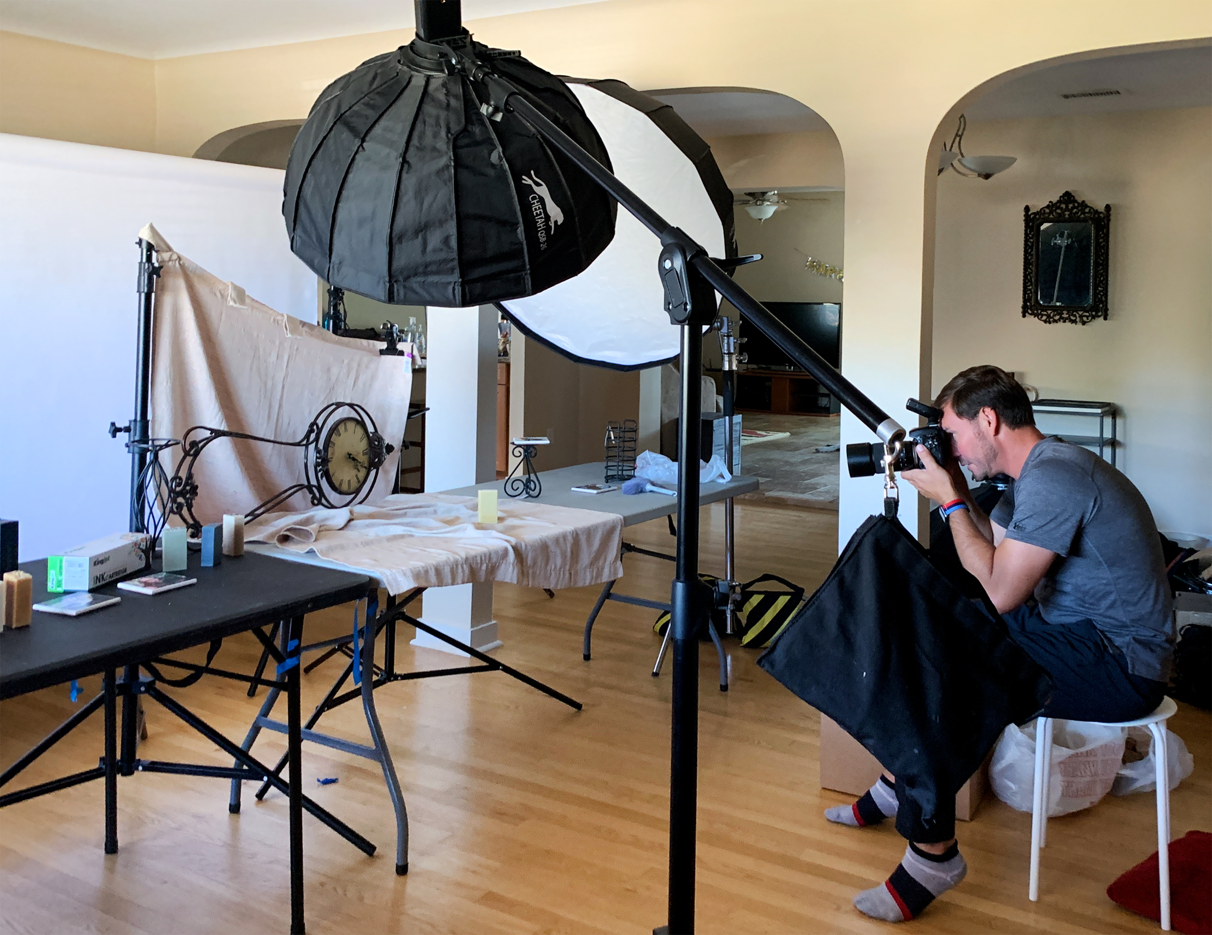 BTS product photography in ABQ