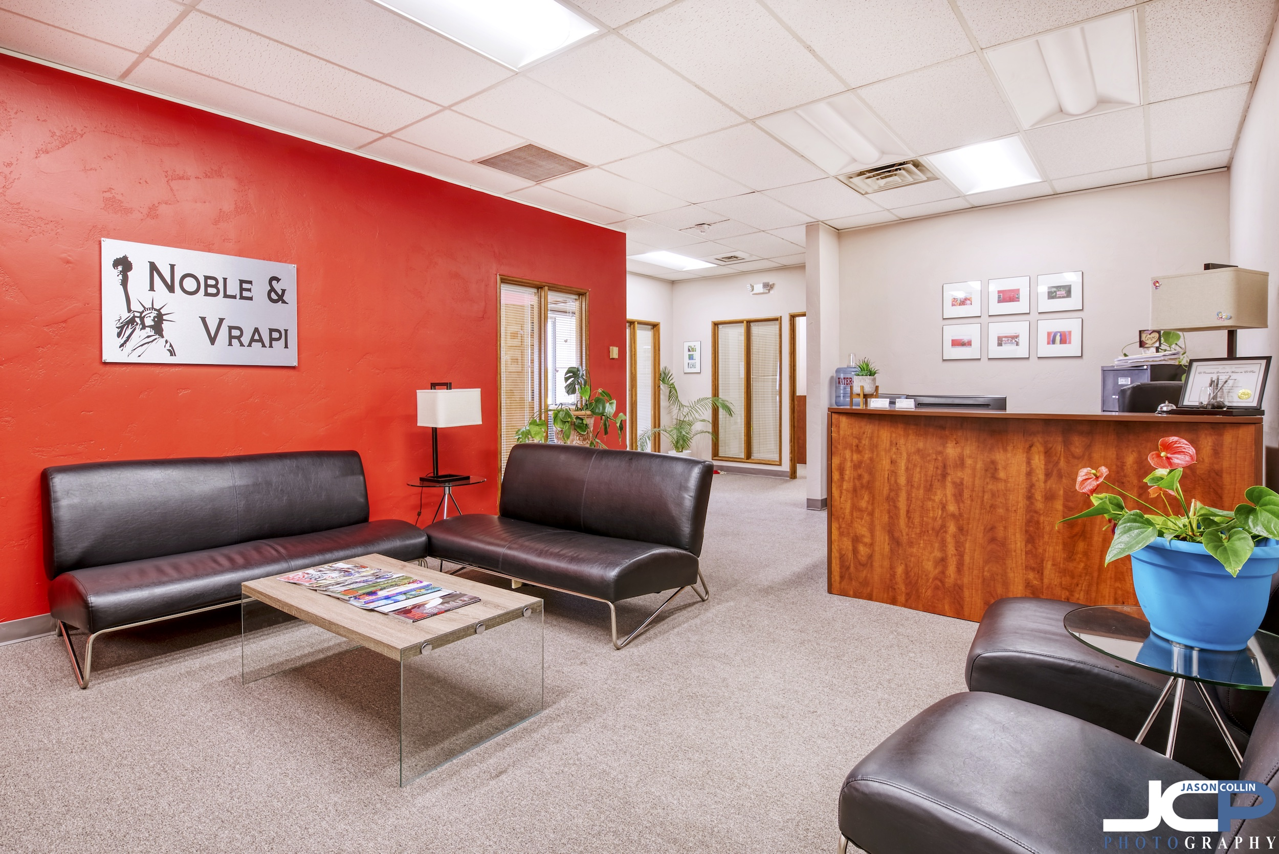 Commercial interior photography of a Las Cruces law office
