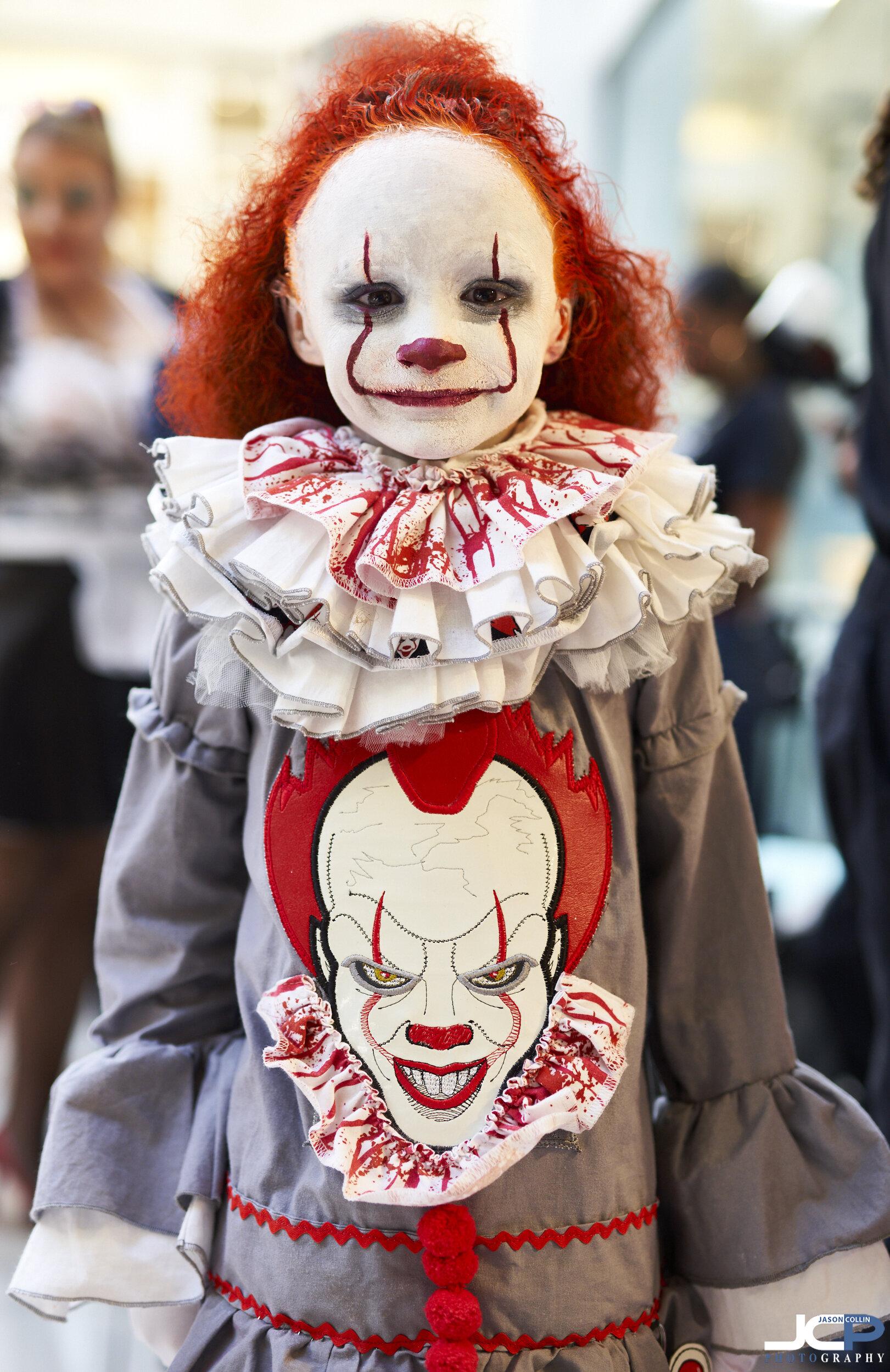 IT clown as a child Halloween costume