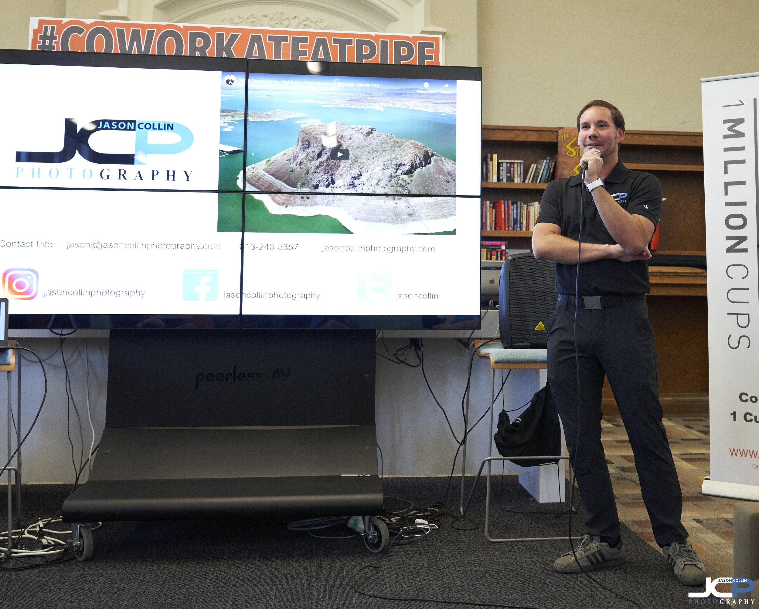 Jason Collin certified drone pilot in Albuquerque New Mexico
