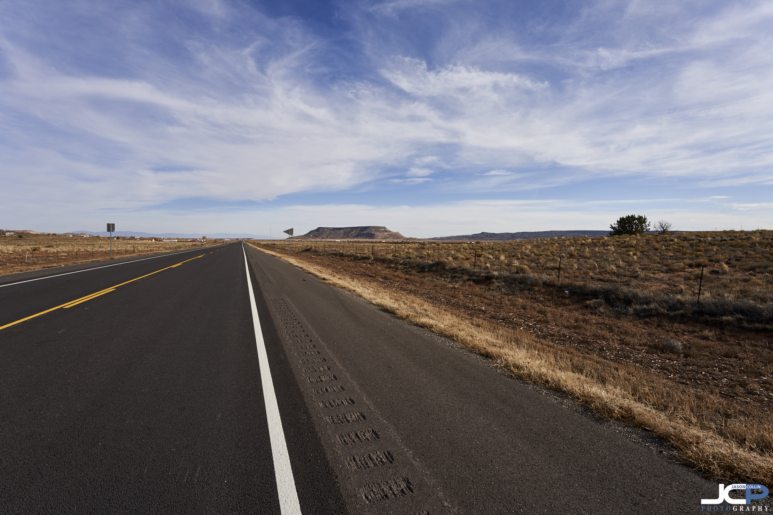 Rural life on the highway in Valencia County, New Mexico